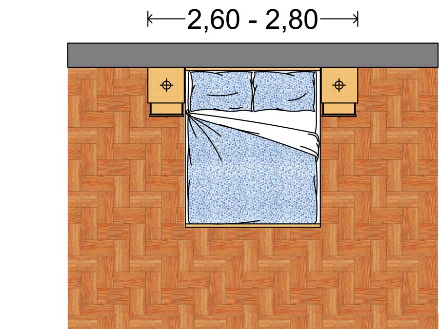 Arredi camera da letto le dimensioni standard - domuseco.it ...