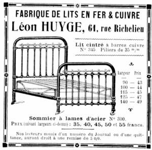 Pubblicità Francese di Letti in Ferro Inizi XX secolo