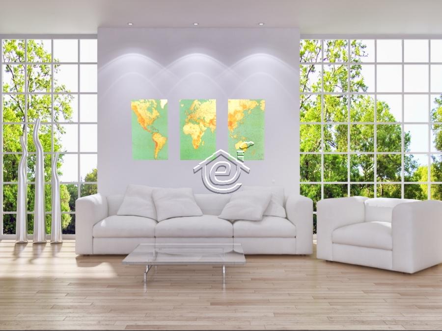 Posizionare stampe e foto in un salotto moderno domuseco for Stampe arredamento moderno