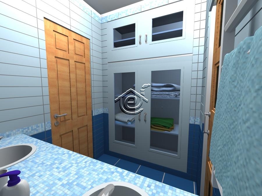 Bagno doppio - Bagno in muratura doppio lavabo ...