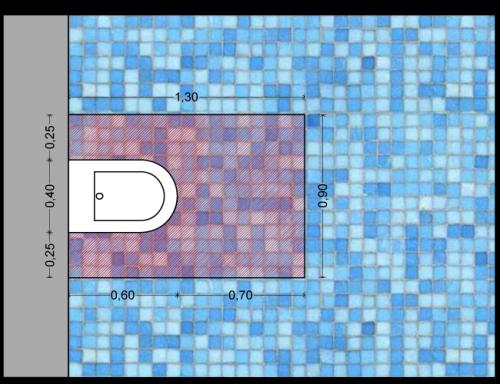 Le dimensioni standard dei sanitari - Spazio minimo per un bagno ...