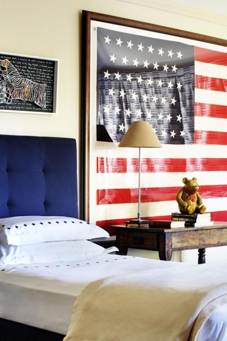 Idee per decorare con i tessuti for Americana bedroom ideas
