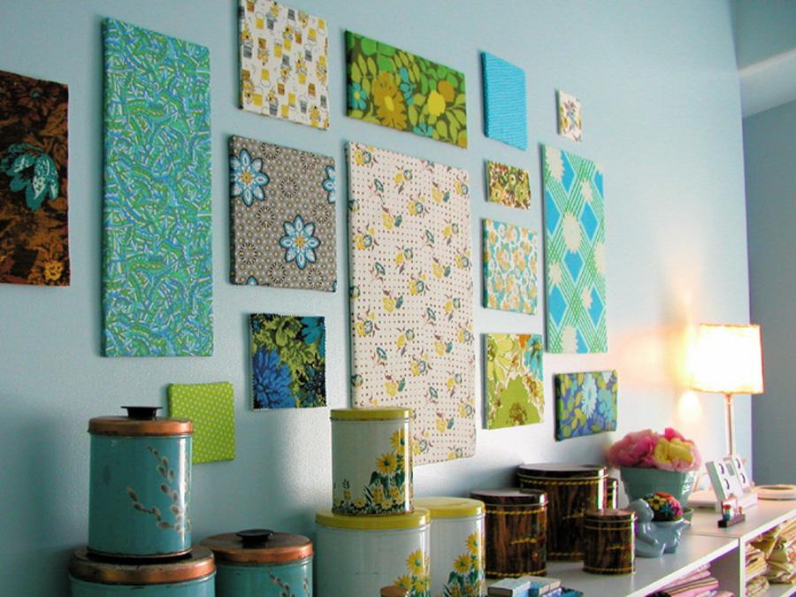 Idee per decorare con i tessuti - Decorare una parete ...