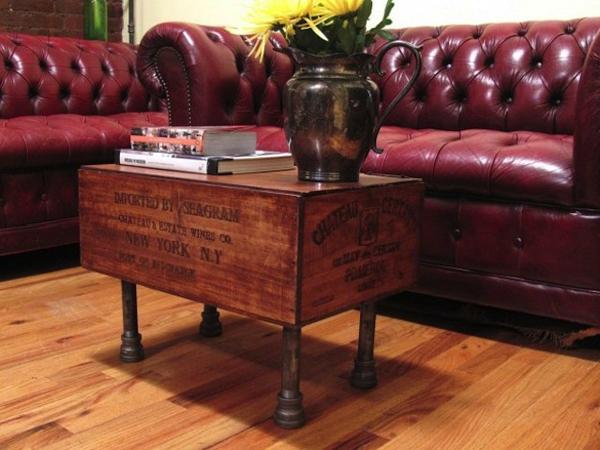 Tavolini da salotto di riciclo for Tavolino con cassette
