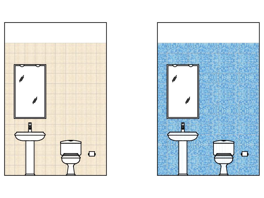 Schemi di posa per piastrelle quadrate - Posa rivestimento bagno ...