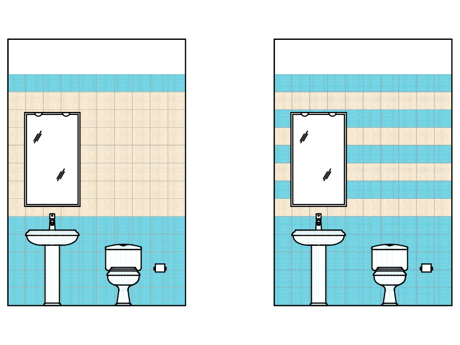 Schemi di posa per piastrelle quadrate - Posa mosaico bagno ...
