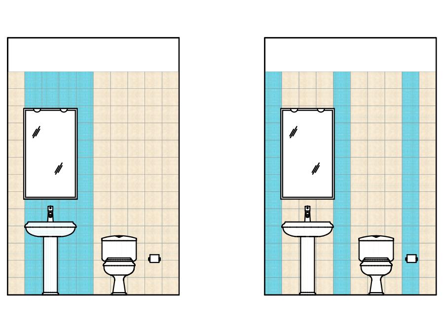 Schemi di posa per piastrelle quadrate - Disposizione piastrelle bagno ...