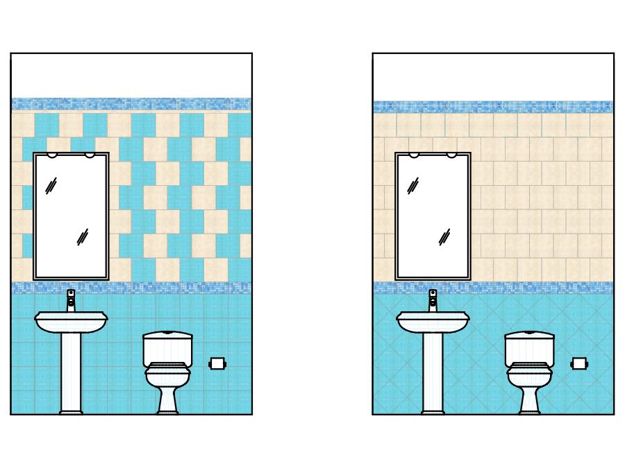 Amazing schemi di posa per piastrelle quadrate domusecoit domusecoit idee with posa piastrelle bagno - Schemi di posa piastrelle ...