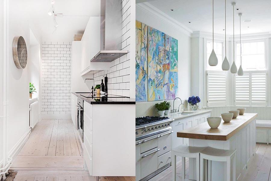 Arredare e progettare la cucina piccola - Arredare cucina soggiorno piccola ...