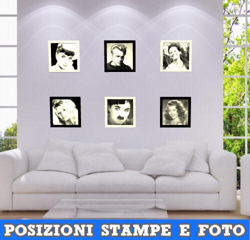 Posizionare stampe e foto in un salotto moderno