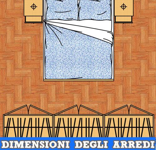 Arredi camera da letto le dimensioni standard