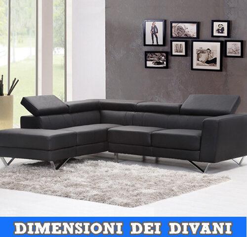Dimensioni standard divani e poltrone