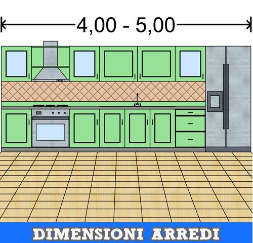 Dimensioni della cucina elettrodomestici lavello