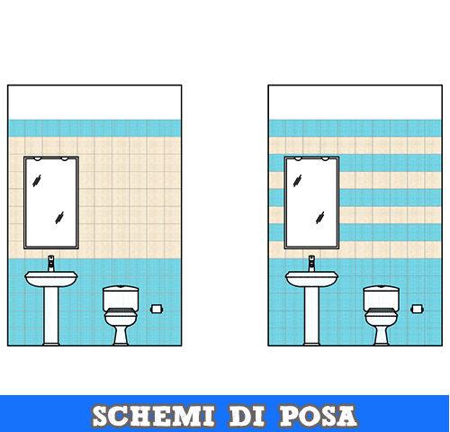 Schemi di posa per piastrelle quadrate