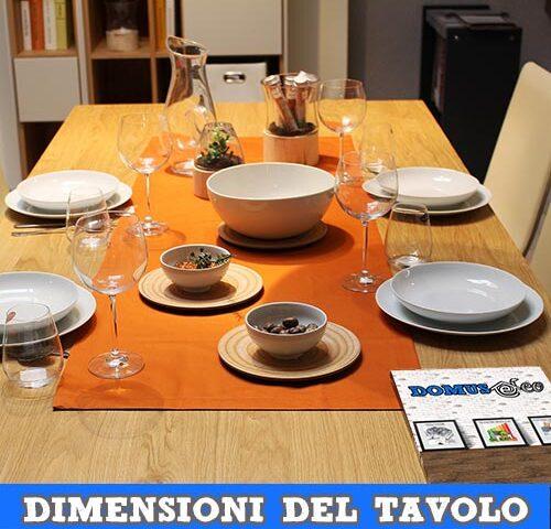 Le dimensioni della zona pranzo e del tavolo